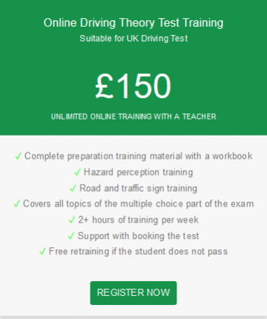 Online Driving Theory Test Training with a teacher