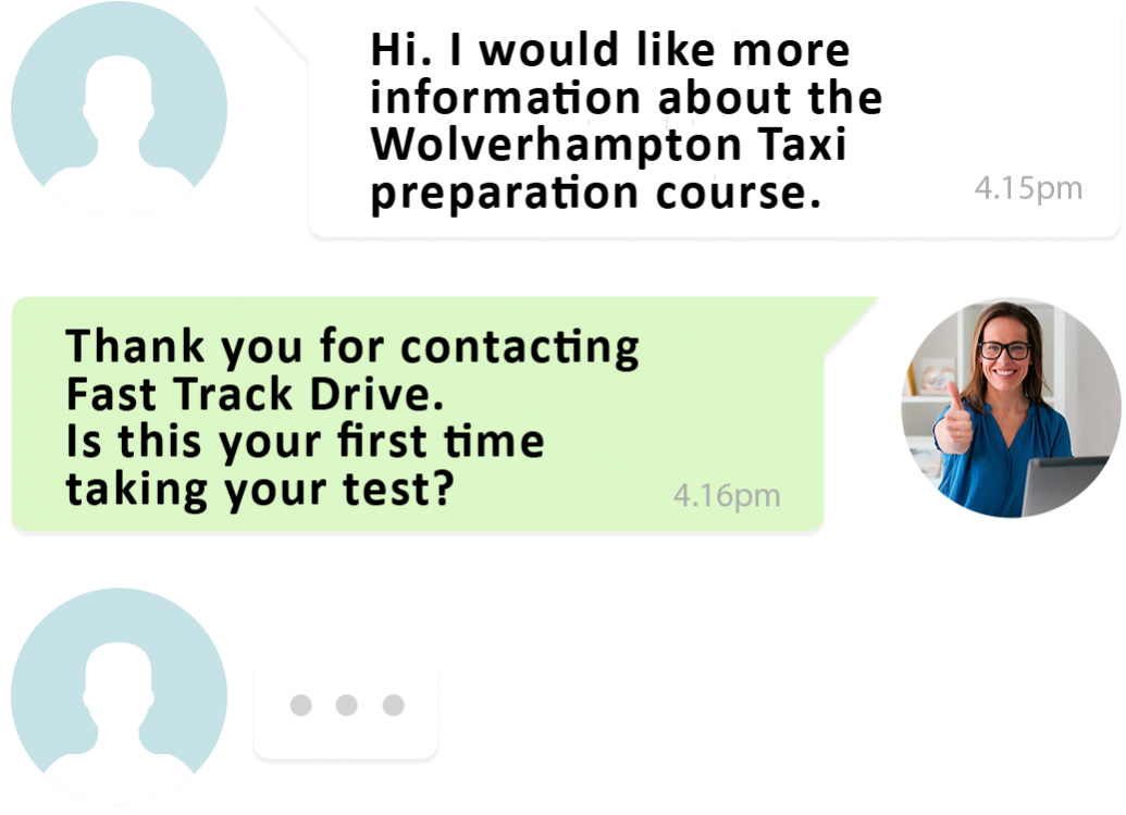 Speak to a teacher for the Wolverhampton taxi knowledge test