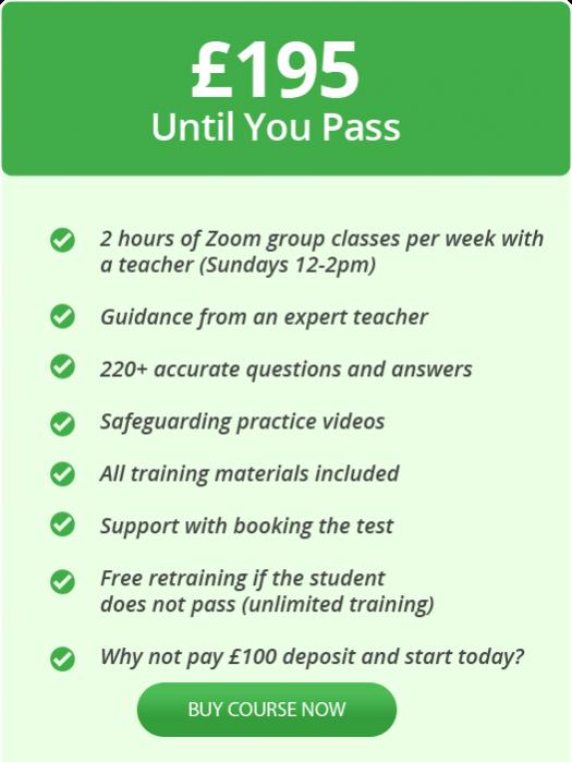 Wolverhampton taxi group classes online